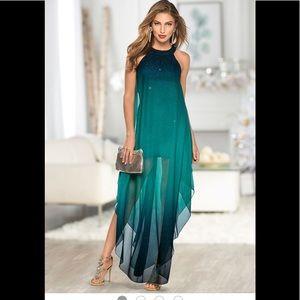 Ombré Glitter Long Dress
